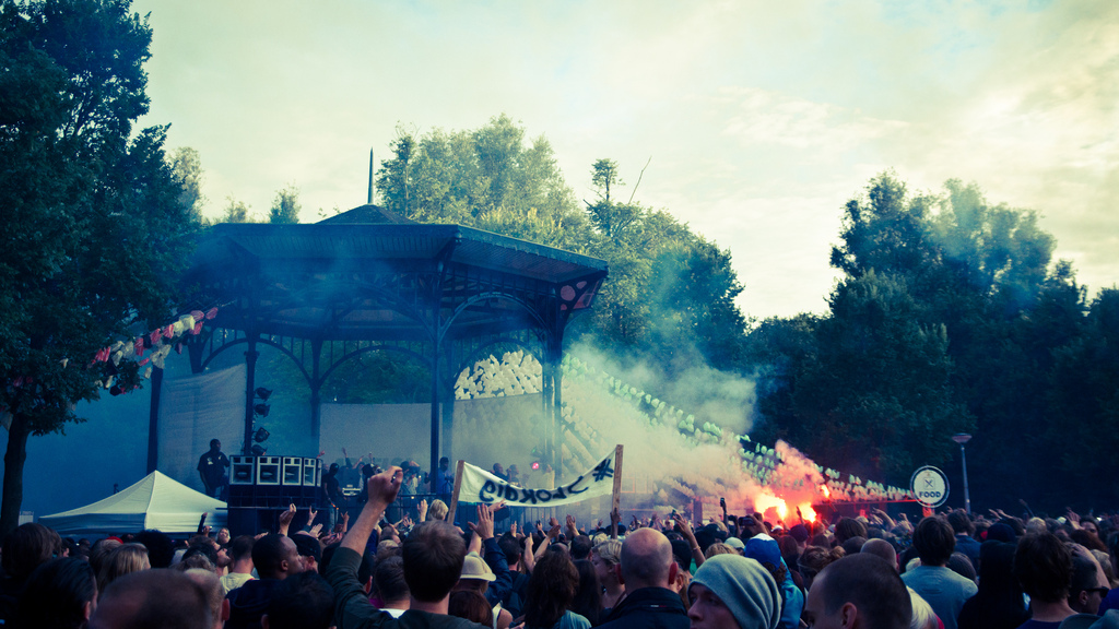 Oosterpark on fire